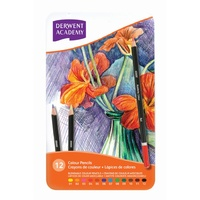 Derwent Pencils Academy Colour - tin 12 2301937 Drawing Colouring pencils artists