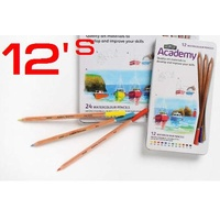 Coloured Pencil Watercolour Derwent Academy Tin 12