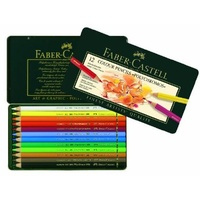Pencil Faber Castell Graphic Polychromos Tin 12