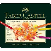 Pencil Faber Castell Graphic Polychromos Tin of 24 * SPECIAL ORDER