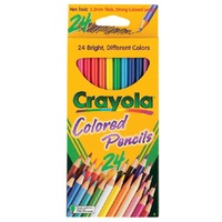 Coloured Pencils Crayola pack 24 full size 684024