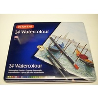 Coloured Pencil Watercolour Derwent 24 R32883 - pack 24