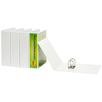 Lever Arch Binder A4 Insertable White White 70mm L arch 6405008