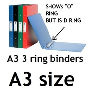 Ringbinder A3 3/32/D Deluxe Green Marbig 5000004 A3 3 Ring D 32mm