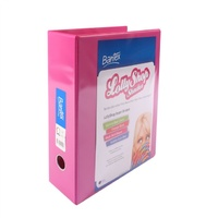 Lever Arch Binder A4 PVC Insertable Bantex Pink 70mm Lolly Shop L arch 2736AF73