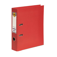 Lever Arch Binder A4 PE Bright Red 6601003 Marbig Linen finish
