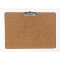 Clipboard A3 Masonite Landscape Small Wire Clip - each