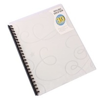 Display Book A4 Beautone 30 Pocket Refillable Jewel 31864 Clear