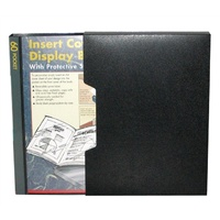 Display Book Colby A4 245A  60 Pocket Insert Cover Black with Slip cover