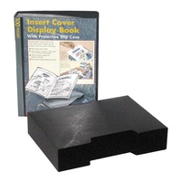 Display Book Colby A4 245A 100 Pocket Insert Cover Black with Slip cover