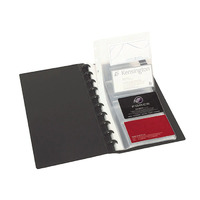 Business Card Book Kwik zip holds 96 expandable to 176 - Marbig 2021502
