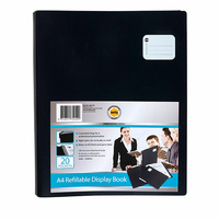 Display Book A4 Marbig 20 Pocket Refillable Professional 2002702 Black