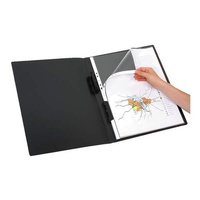 Display Book A3 20 Pocket Black Refillable 2003402 Marbig