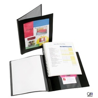 Display Book  A4 Marbig 20 page Pro Series Refillable With Frame Black 2003702