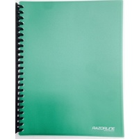 Display Book A4 20 Pocket Refillable Green Schools Students Office