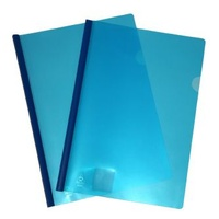 Clear Cover File With Spine A4 Colby 202A Blue