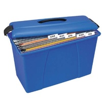 Suspension file Carry Case Blue with Black Trim Crystalfile 8008601 18L capacity