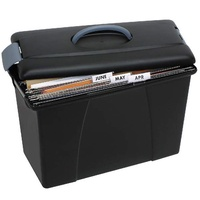 Suspension file Carry Case Black Crystalfile 8008602 18L capacity