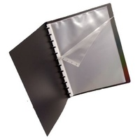 Display Book A4 20 Pocket Quick Transfer P249A Black Colby Pop