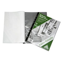 Display Book Colby A4 20 Pocket Punched for Insertion In Folder Colby Folder Friendly 215A Black