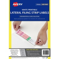 Lateral Filing Labels Avery 959095 Laser L7174 A4 box 100 Sheets White Auto