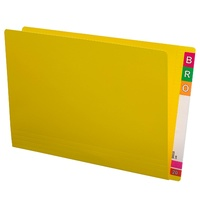 Shelf Lateral File STD FC 45413 box 100 Yellow Extra Heavy Weight 35mm expansion