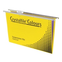 Suspension File Twinlock Crystalfile With Tabs and Inserts Yellow 111224 Pack 10