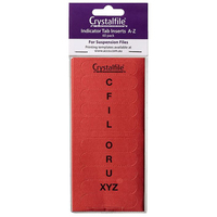 Suspension File Crystalfile Index Tabs ROUNDED AZ Red 111541C Pack 60