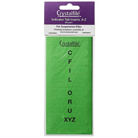 Suspension File Crystalfile Index Tabs ROUNDED AZ Green 111543C Pack 60