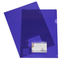 Letter File A4 Colby Harlequin With Business Card Window H150ABC Purple Pack 12