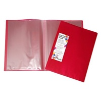 Display Book A4 Colby 10 Page Harlequin H253A10 Red