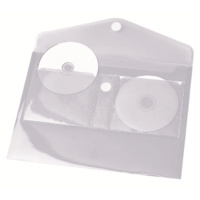 CD DVD Storage Pocket H149CD Clear Pack 6