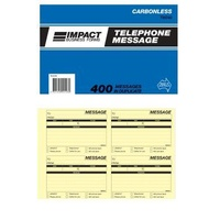 Telephone Message Books Carbonless Impact TM340 - each
