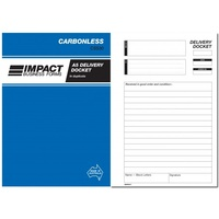 Delivery Docket Books Carbonless Impact A5 Duplicate CS530