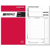 Order Book Carbonless 8x5 Triplicate Impact SB320A small 50 pages