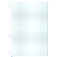 Graph Pads  A4  5mm 7 Hole Punched 25 Sheets GP850 Impact