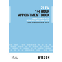 Appointment Book Wildon A4 1/4 Hour 211W 15 minute WIL211