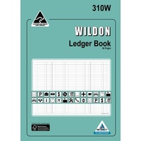Account Books Wildon Ledger A4 310W WIL310