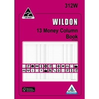 Account Book Wildon 13 Money Column 312W WIL312