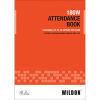 Attendance Book Wildon 180W A4 128 pages