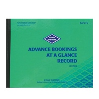 Advance Bookings at a Glance record book 15 line Zions ADV15 230x290mm