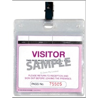 Visitors Pass and Fire Register Plastic Wallet Zions WCVSFR Pack 25