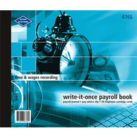 Payroll Books Zions 676S Time and Wages Recording