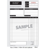 Invoice Statement Book Duplicate 145x210mm Tax SBE3 Zions Small Business Essentials