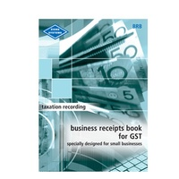 Business Receipts For GST Book Zions BRB A4 Size: 297mm x 210mm