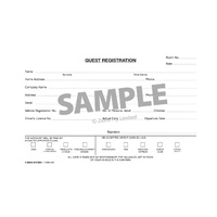 Guest Registration Cards Zions GRC Pack 250 Size: 125mm x 205mm