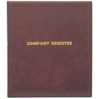 Company Register Binders including refill A4 3/32/D Zions COYC