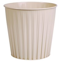 Waste Bin 15 Litre Metal Beige 290mm high - 30487