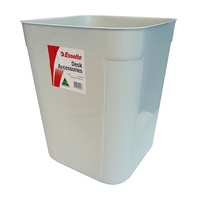 Waste Bin 30 Litre Dove Grey Plastic Esselte 45794