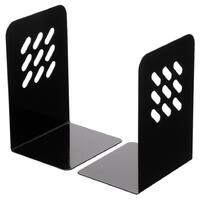 Bookends 8 inch Marbig Steel Black 8701002 195mm high x135mm wide